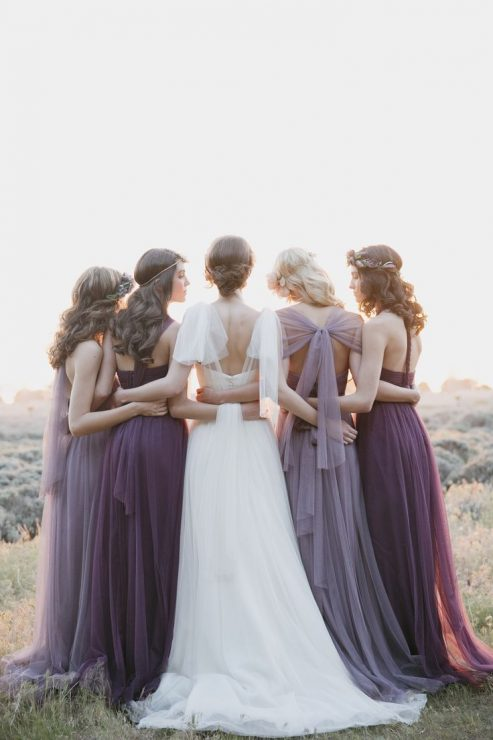 Jenny Yoo bridesmaids mix and match