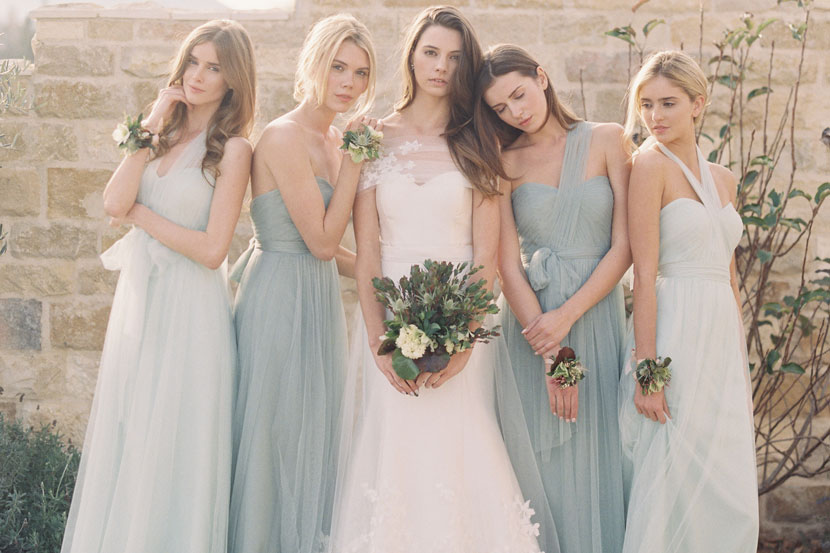 Cheap Wedding Dresses With Color: Jenny Yoo Fall Bridesmaid Promotion