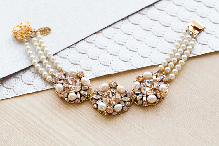bridal bracelets with pearls