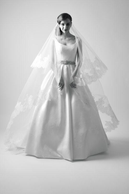 modern trousseau gala wedding gown