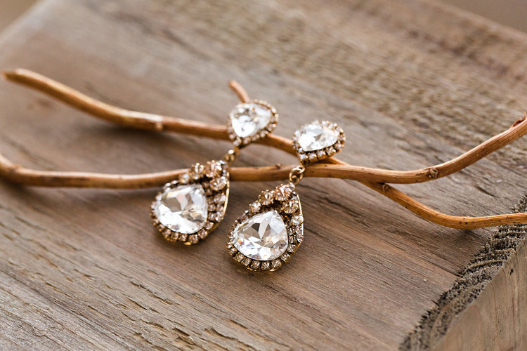 glam bridal earring
