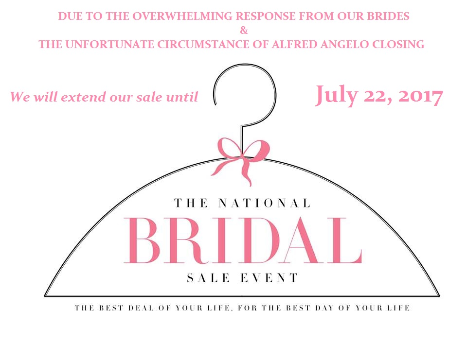 bridal gown sample sale discount