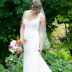 Jim Hjelm Lace Wedding Gown