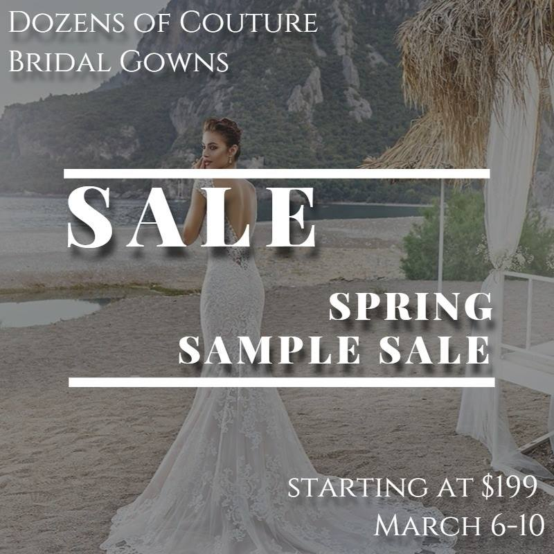 bridal gown sample sale discounts