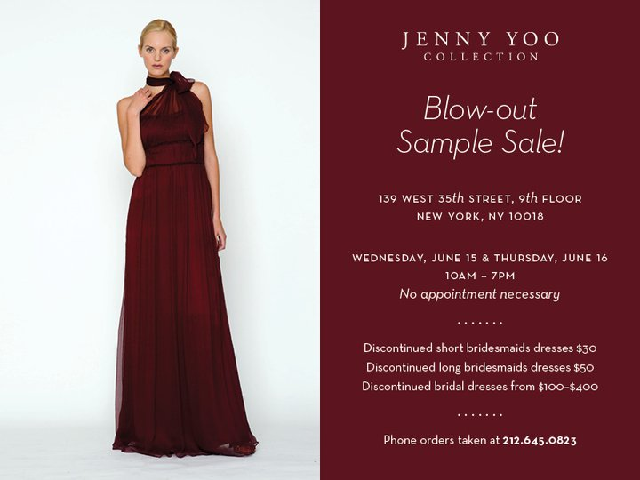 6c3f50a3b33 June Sample Sale by Jenny Yoo! - All Brides Beautiful