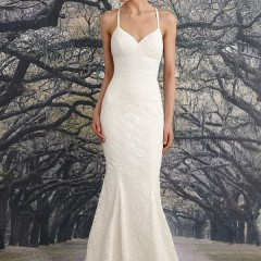 Nicole Miller wedding gown violet