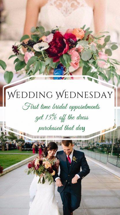 wedding wednesday bridal gown sale