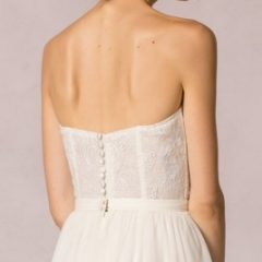 jenny yoo elodie bustier top for wedding gown skirt
