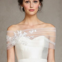 jenny yoo london wrap for wedding gown
