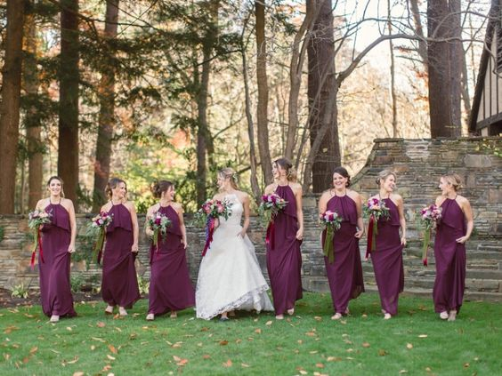 bridesmaids fall wedding cleveland